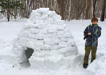 野外活動(冬)実習
